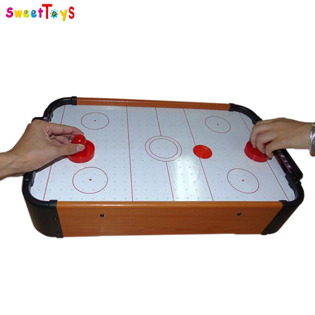New Product Wooden Ice Hockey Table Game Top Boadr Game Mini Air Hockey  Games.
