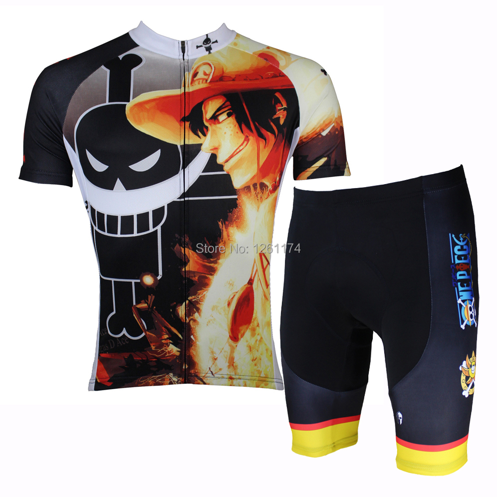 Cycling Jersey Men Anime One Piece Portgas D Ace cycling clothing short  sleeve Men cycling clothes 9318bf6dc