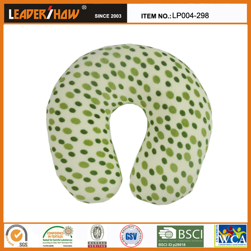 U-shaped micro polystyrene beads travel neck rest pillow