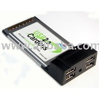 Cardbus PCMCIA USB 2. 0 4 Port Card Adapter For Laptop