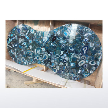 Natural Semi Precious Stone Blue Agate Table Top Countertop - Buy ...