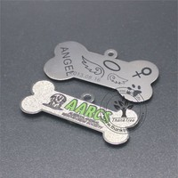 wholesale custom logo printed metal pet tag