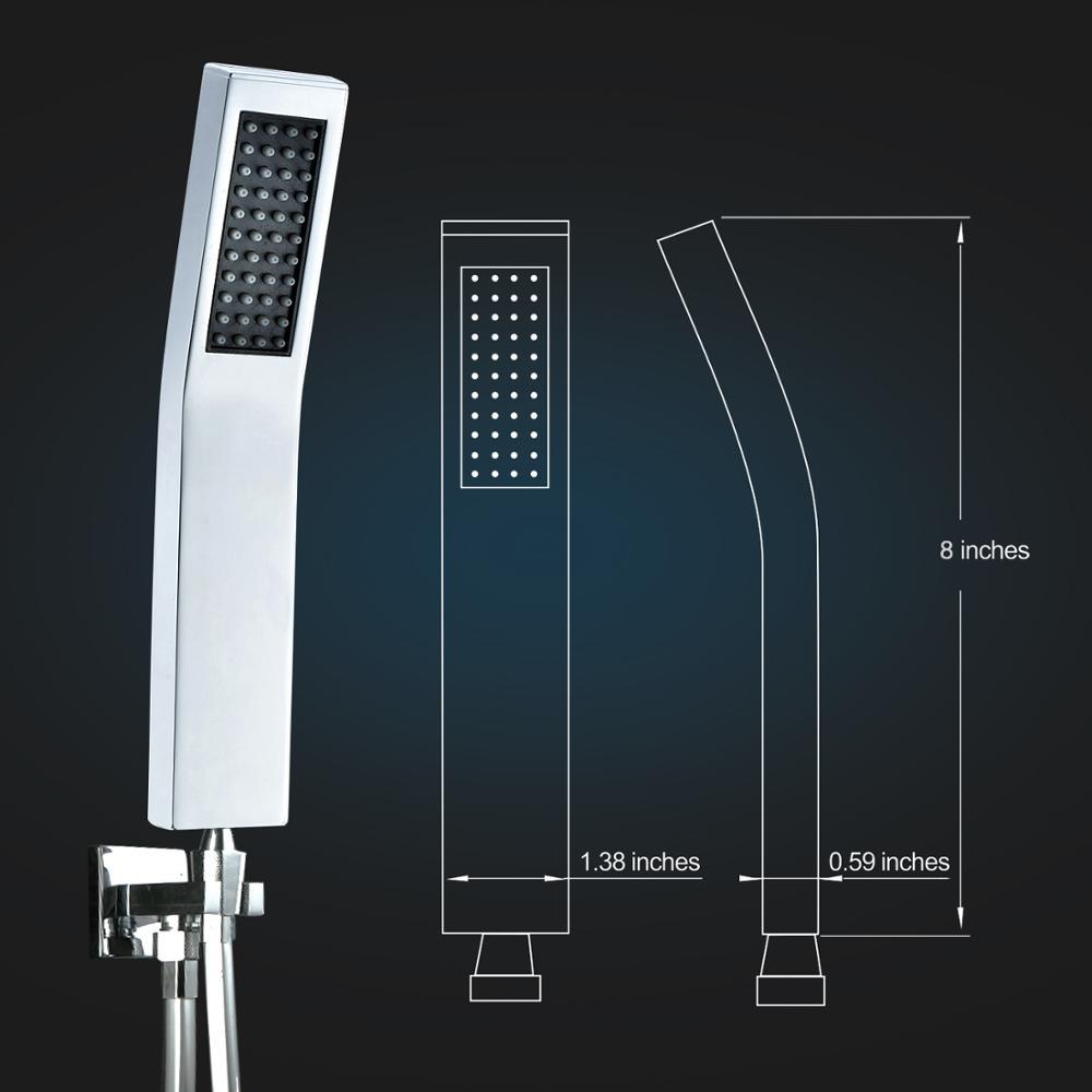 Brass Handheld Shower Head L-style High Pressure Luxury Hand ...