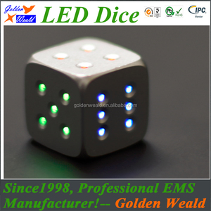 Giant Dice yard dice colorf LED CNC aluminium alloy dice