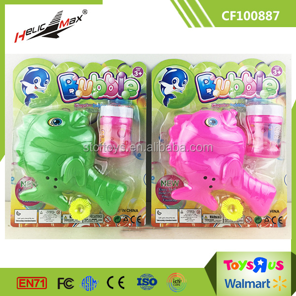 Novelty Outdoor Toy Economic Manual Bubble Gun Fish