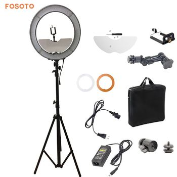 Fosoto 240 Led Ring Light With 28m Light Stand And Mirror Buy Led