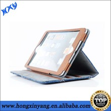 High quality Cowboy Style Jeans leather case for ipad mini.