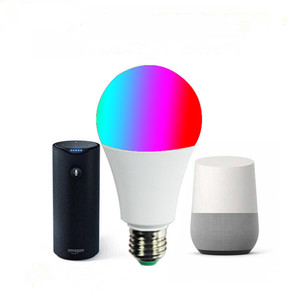 WiFi RGB bulb works with Amazon Alexa Home Wireless E27 5W 7w 9w RGB LED smart bulb
