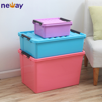 Large Clothing Storage Container Flat Plastic Storage Box
