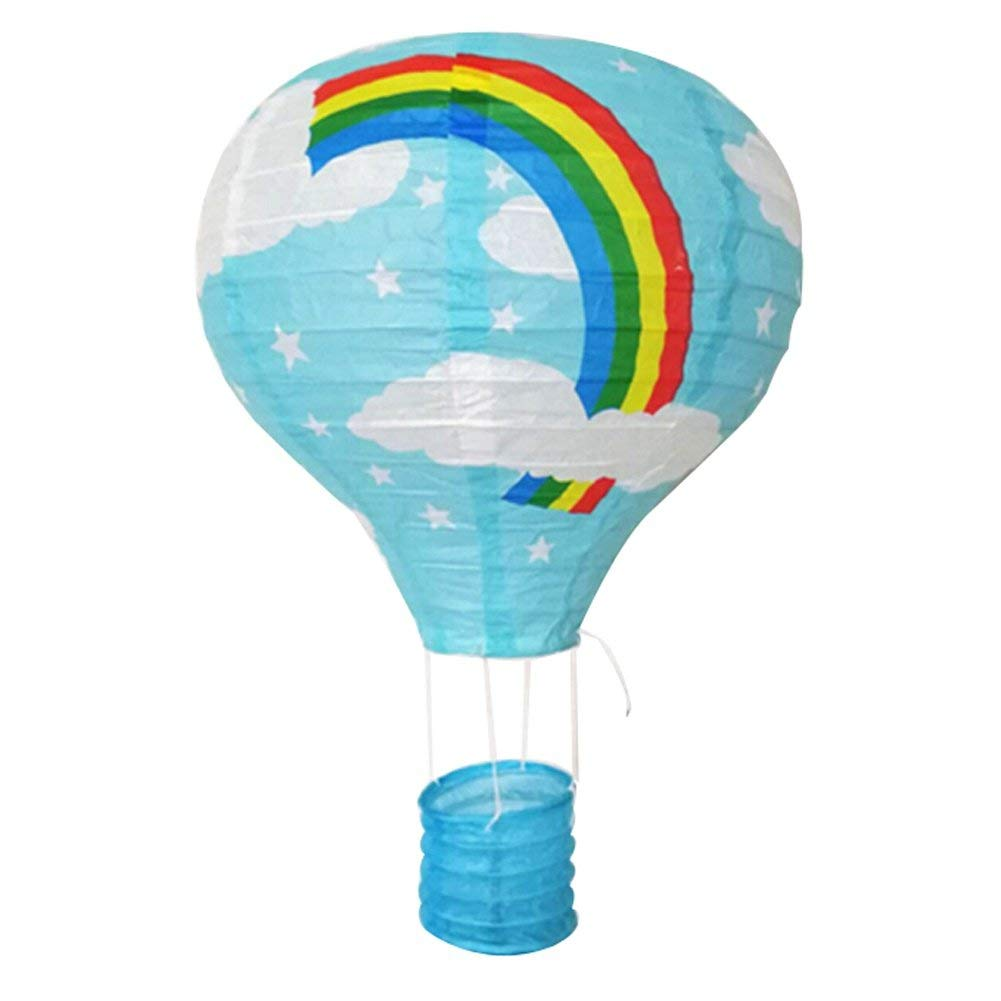 BATEER Hot Air Balloon Paper Lantern Foldable Multi-color Wishing Wedding