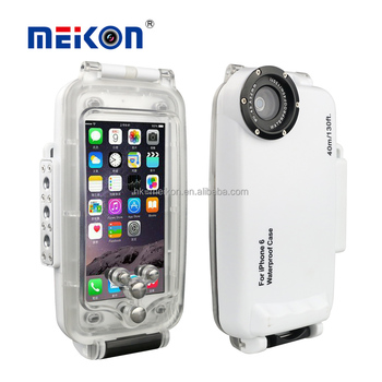 Meikon 4.7inch  40M/135FT Waterproof underwater housing  Case For iPhone 6 with 32mm thread key control