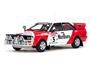 "Audi Quattro #5 ""Marlboro"" 1982 Rally Côte D'Ivoire H.Mikkola/R.Gumpert 1/18 Limited Edition 1 of 899 Produced Worldwide by Sunstar 4221"