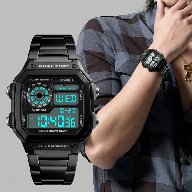 2018 Trending Products Skmei 1335 Cool Digital Chinese Gold Oem Watch SKMEI watches фото