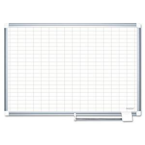 BVCCR0630830 - MasterVision 1 x 2 Grid Magnetic Porcelain Pure White
