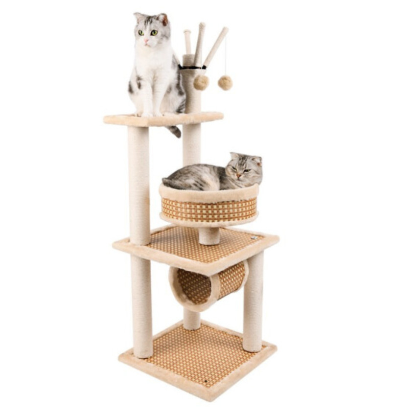 Chats salon de scratcher de chat griffoir corde arbres et tours grand pour grand chats seulement
