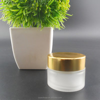 wholesale 5ml 10ml 15ml 20ml 30ml 50ml frosted glass jars and cosmetic packaging container