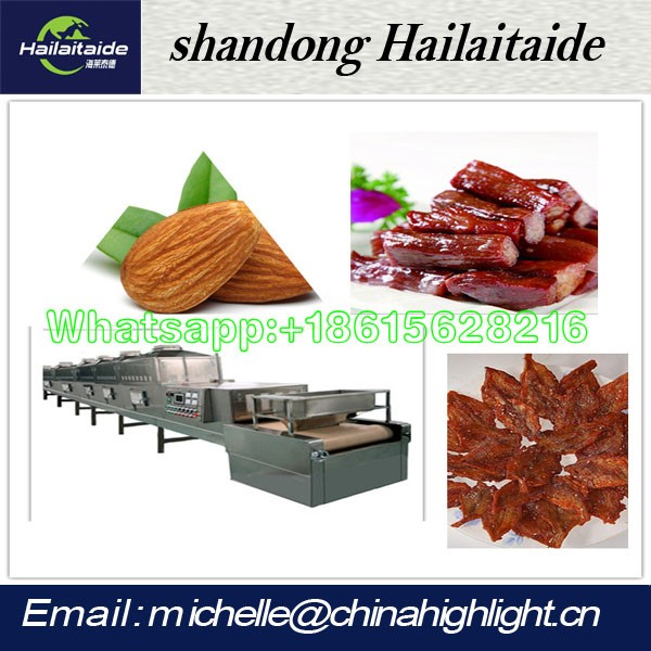 Microwave meat sterlizer and beef jerky microwave dryer equipment