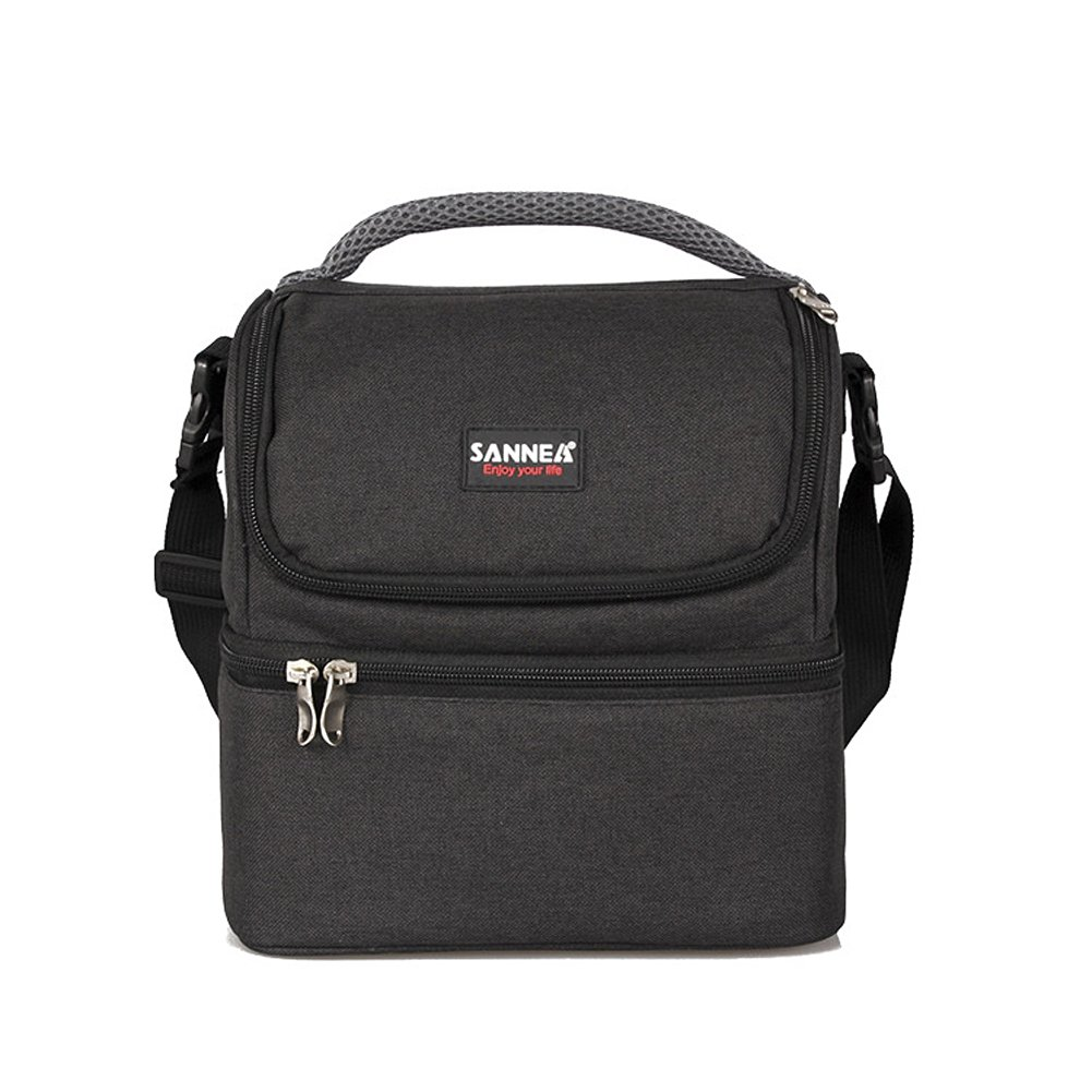 8364cb78aef9 Buy Insulated Lunch Bag - Mens Dual Compartment Bento Box Tote with ...
