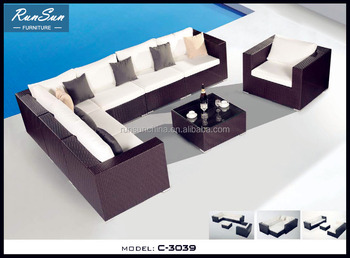 Market Sale Outdoor Furniture Cover Garden Sofa Set Rattan Raw Material Part 66