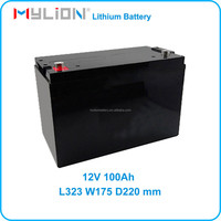 Backup Battery 12V 100Ah For UPS or Solar Energy System LiFe 26650 From China Factory