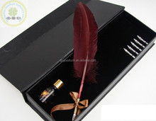 Turkey natural feather pen delicate custom feather calligraphy pen