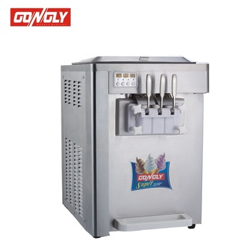 Made In China Used Commercial Thailand Table Top 3 Flavor Soft Nitrogen Used Commercial Ice Cream Machine
