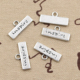 New style charm bracelet custom inspired word plate logo tags charm