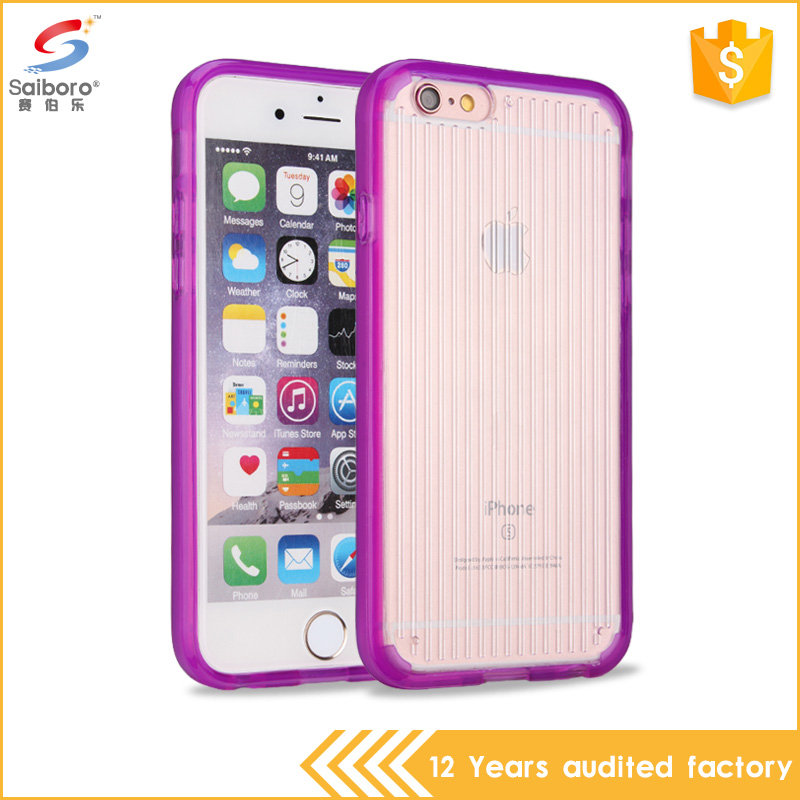 Purple tpu phone case for iphone 6 heat dissipation shockproof mobile phone case with high quality