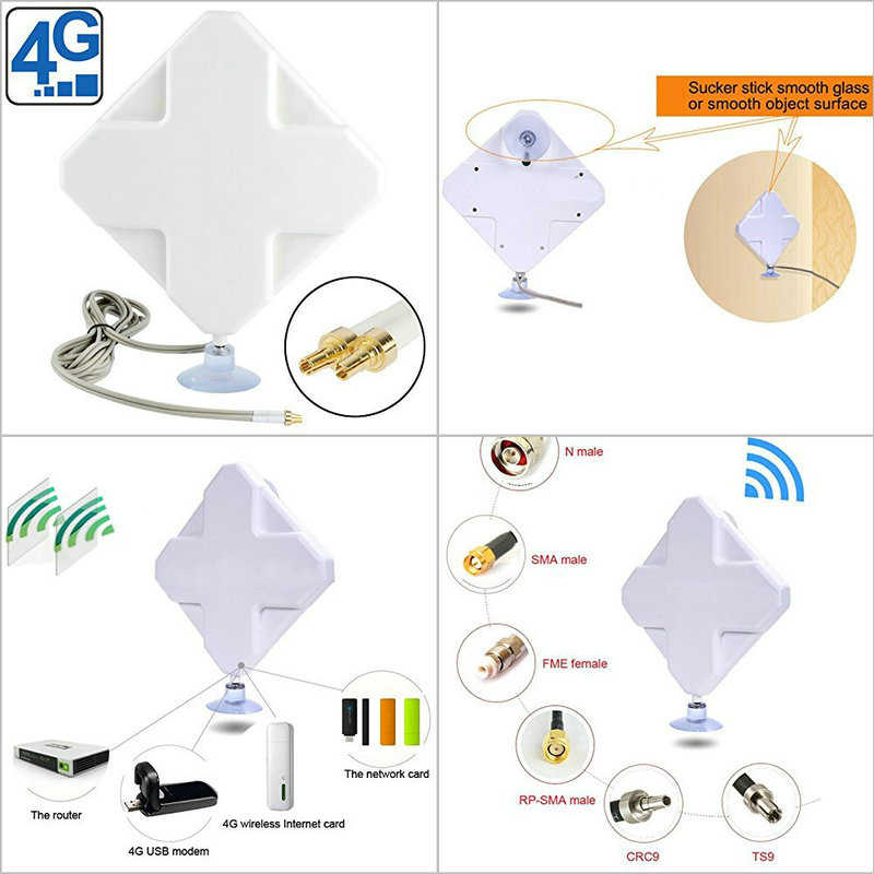 2016 Indoor 35dBi CRC9 4G Antenna Factory
