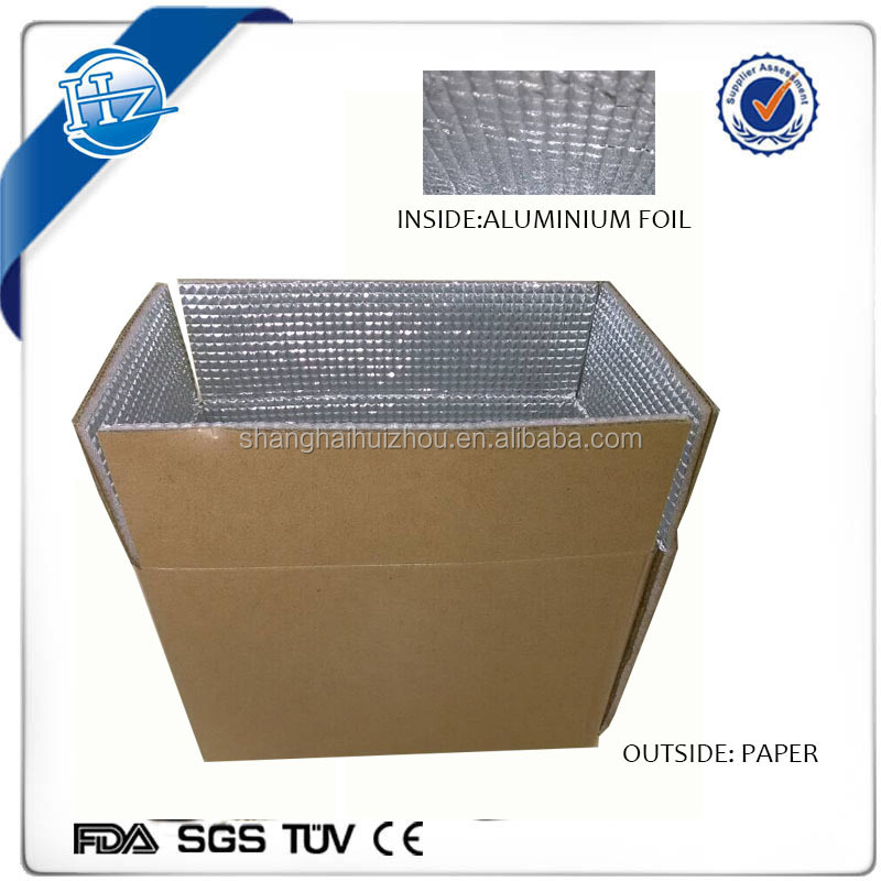 custom printed insulated packaging shipping carton box for food/ cardboard thermal chill box