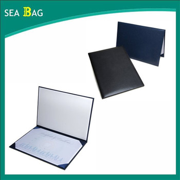 Certificate Holder / Presentation Folder Custom Leather Certificate ...