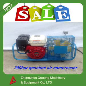 For firefigting /diving, 200-300bar high pressure small air breathing compressor for scba