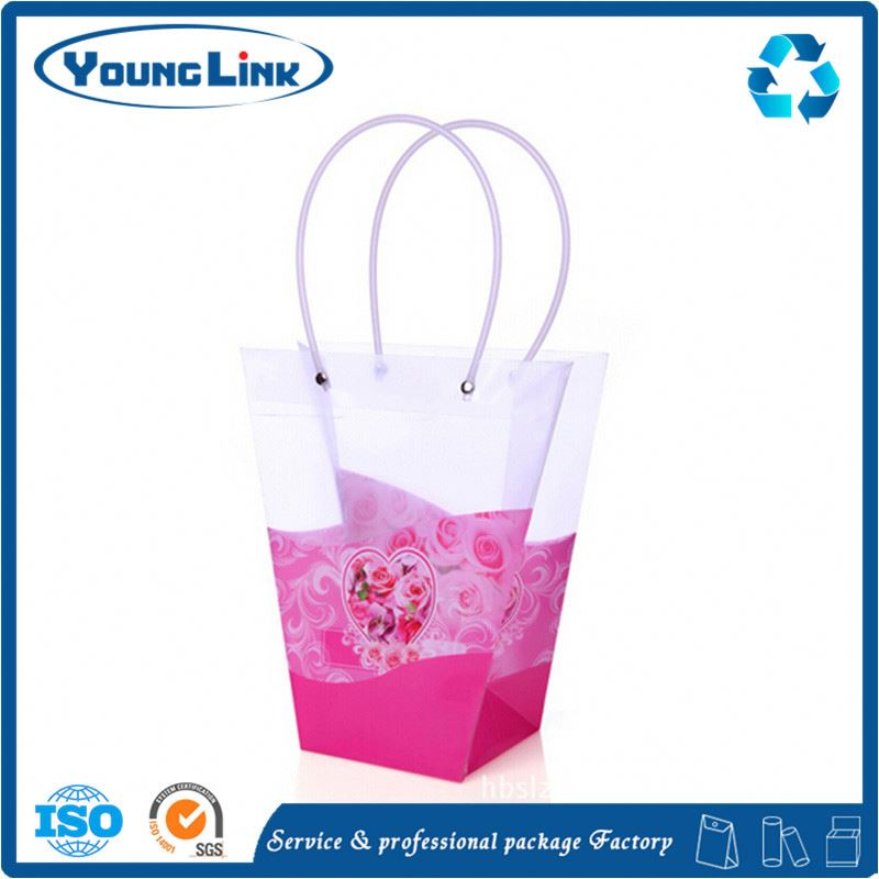 Transparent plastic pouch scissor bag