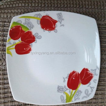 Square Shape Dinner Plates,Red Square Charger Plate - Buy Square ...