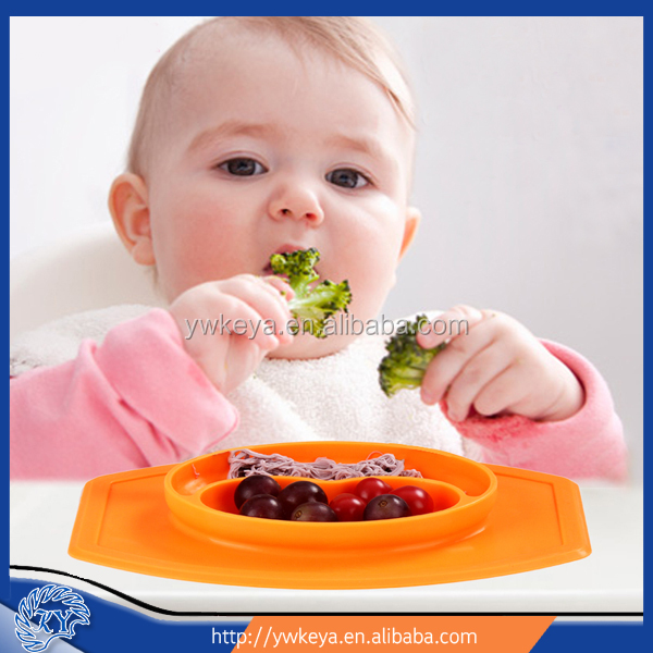 Wholesale good quality mini style silicone dinner placemat and plate baby dining table mat