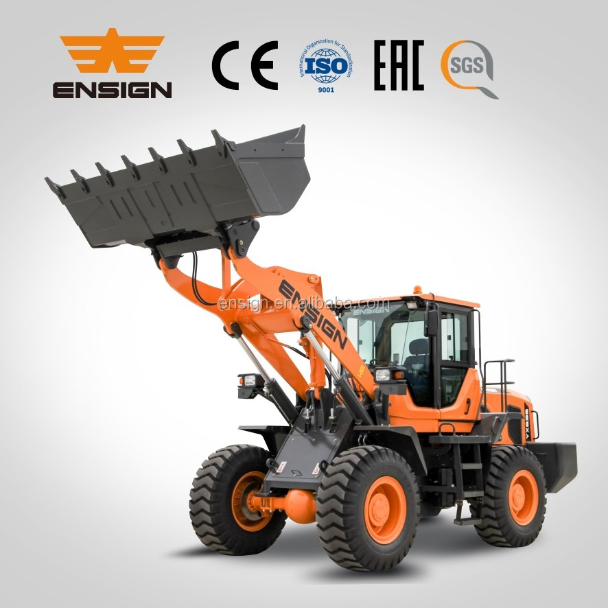 Ensign earthmoving machinery 3 ton wheel loader YX636 with Deutz engine