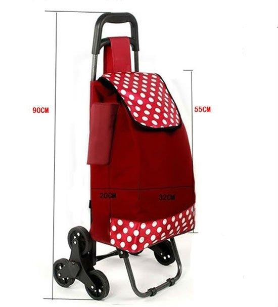 faltende rollen laufkatze einkaufstasche mit drei r dern einkauftrolley produkt id 627498750. Black Bedroom Furniture Sets. Home Design Ideas