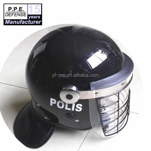 Police security riot control helmet with steel face guard