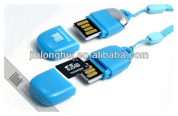 Flash memory with micro sd card reader in a double sided usb lanyard flash memory with micro sd card reader in a double sided usb lanyard colourmoves
