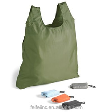 Waterproof polyester folding shopping bags, polyester foldable bag Wholesale