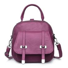 6f92e8716f09 FUFU BAGS Store. Add to Wish List. Women Fashion Casual Small Leather Solid  Flap Backpack Zipper Purple
