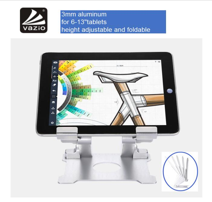 Universal Adjustable Foldable Aluminum Android Tablet Pc Pos Display Stand Holder for 13 Inch Tablet Pc
