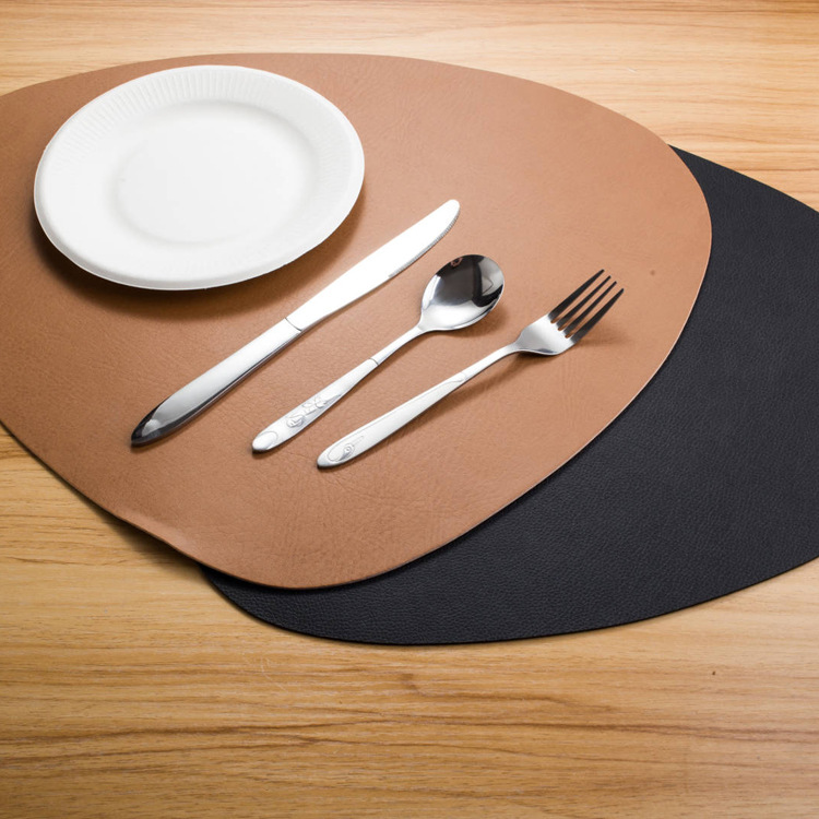 Modern minimalist anti-scalding waterproof insulation coaster artificial leather insulation <strong>placemat</strong> <strong>oval</strong> table mat