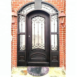 wrought iron wine cellar front exterior doors with iron and glass