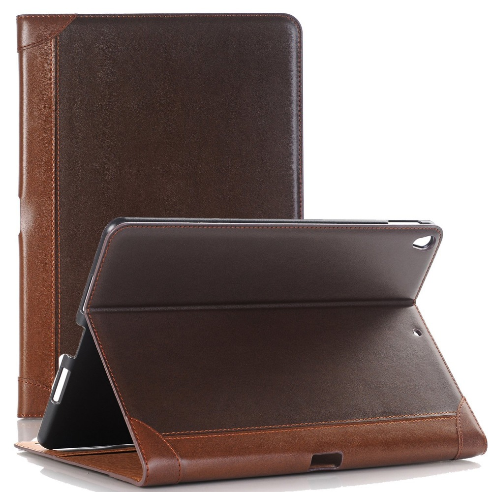 2017 hot selling case for ipad Pro 10.5 Brief Business Style design tablet leather case with adjustable standing.