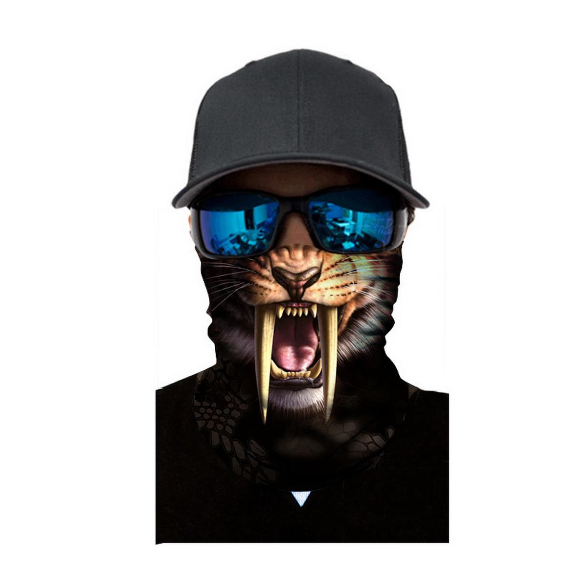 2ee069abf Digital Animal 3D Print Seamless Magic Variety Sports Scarf Outdoor Riding  Headscarf Headband Sunscreen Face Mask Hat White