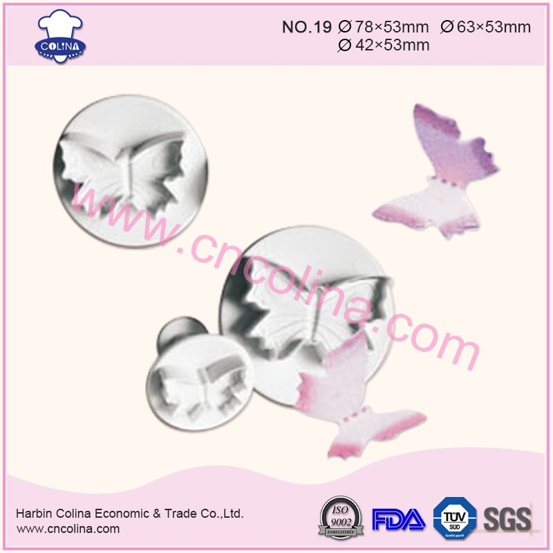Big size plastic butterfly cake plunger cutter decorating tools