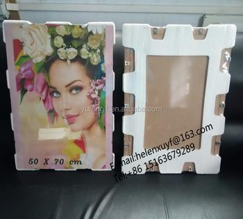 Custom Size Foam Padding Glass And Plexiglass Clip Photo Frame Buy