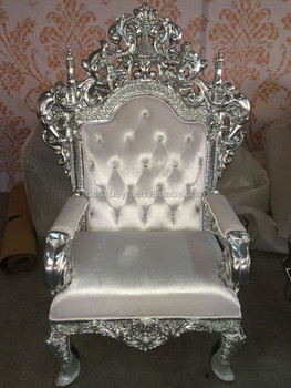 silver throne royal armchair baroque armchair rococo armchair