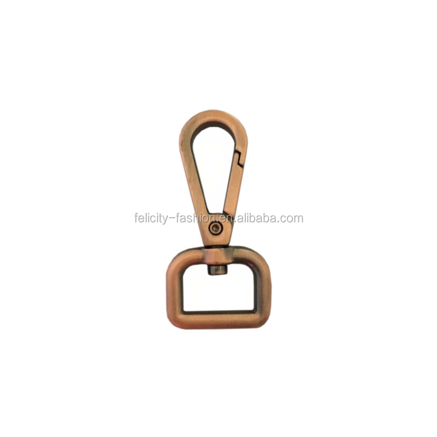 custom logo copper bag hook metal accessories for handbag small metal clasp